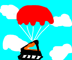 piano with a parachute