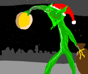 How the grinch stole the moon