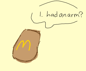 A chicken nugget loses its arm