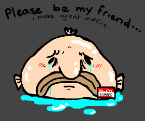 A sad blob fish called mark