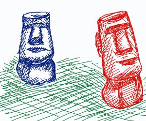 Easter Island moai.