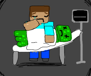 Minecraft creeper died of cancer