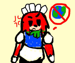 Maid Knuckles plots to destroy Earth