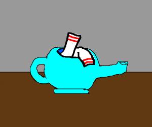 socks in a teapot