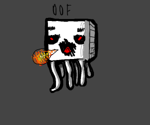 Minecraft ghost saying oof