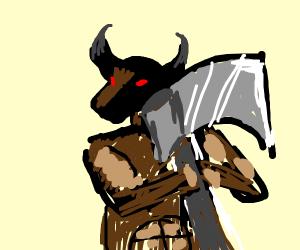 Minotaur wielding an ax