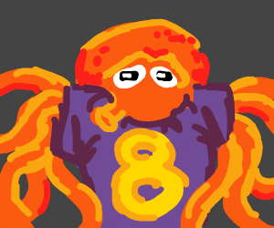 Octopus man with the number 8
