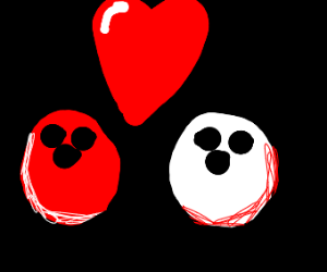 Bowling Ball People In Love