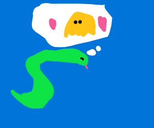 Snake loves Yellow Ghost