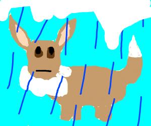 Eevee in ice, not the form though