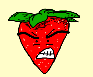 an angry berry