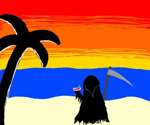 grim reaper on summer vacation
