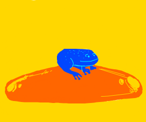 Frog on orange slime