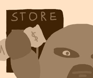 Man robs store