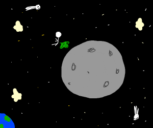 Farting on the moon