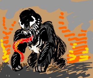 Harambe with Venom symbiote