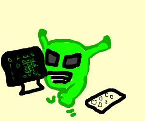 An alien hacker