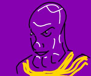 shiny purple man