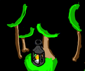 A bright lantern