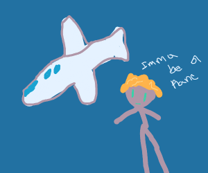 mad man wants to be a plane