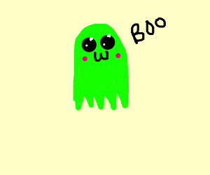 spooky green ghost OwO