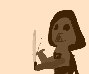darth vader lighting a cig with lightsaber