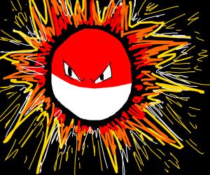 Voltorb explodes