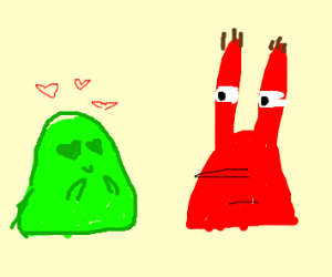 Green goo loves Mr. Krabs
