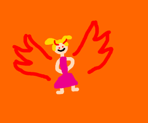 Little girl with demon wings