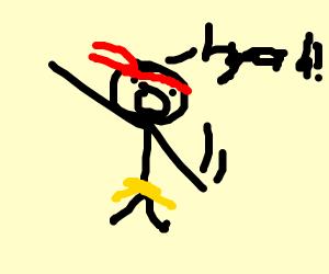 """karate guy says """"HYAH"""""""