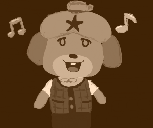 Isabelle with a star on her forehead