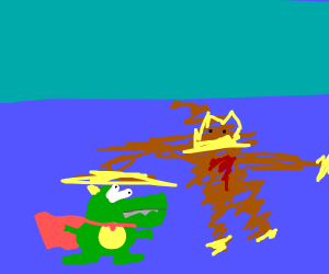King k rool got OWNED by blurry DK