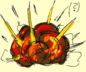 An explosion (?)