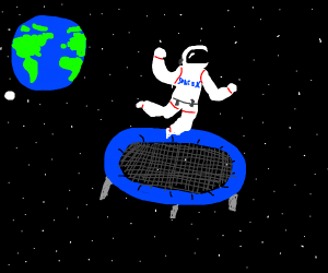 SpaceX funds a trampoline