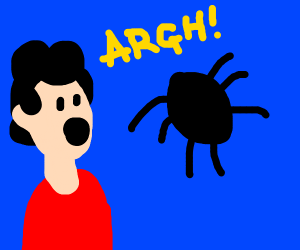 Man scared of 7-legged spider