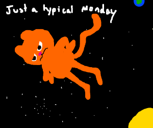garfield in space
