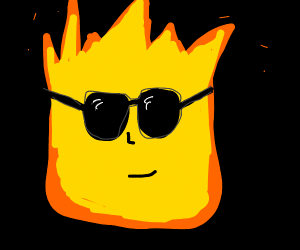 Fire with Sunglasses
