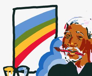 Morgan Freeman paints a picture