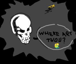 Doot Doot Skeleton lost his trumpet!