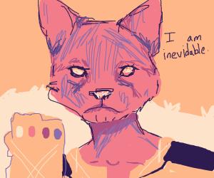 Buff thanos cat