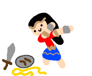wonder woman hits a fat dab
