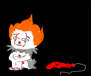 pennywise cries about his deflated balloon