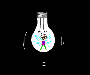 Fairy trapped in light bulb