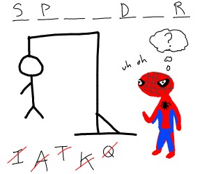 spiderman playing hangman