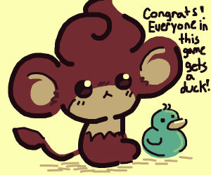 congratulations everyone drawing gets a duck