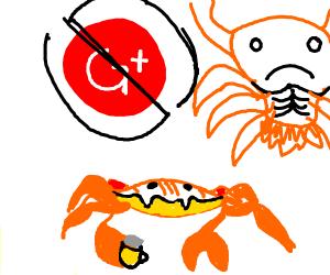 Crab rave except GOOGLE PLUS/IS GONE - Drawception