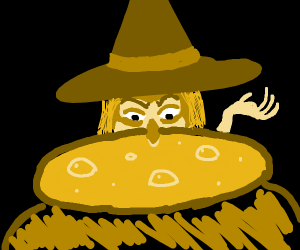 Witch at a cauldron