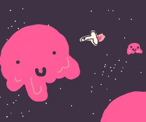 strawberry Ice cream planets