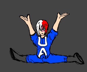 todoroki does the splits