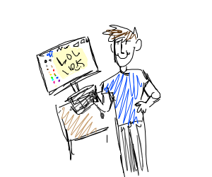 person is bad at drawception